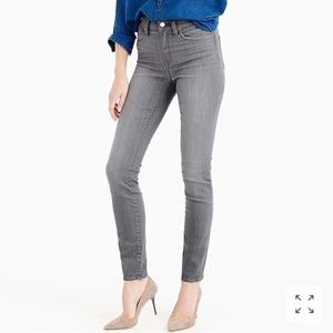 J. Crew The Lookout High Rise Gray Skinny Jean